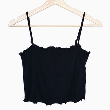 Lettuce Edge Cami - Black