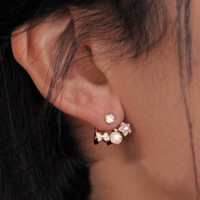 Butterfly And Flower Wrapping Ear Cuffs