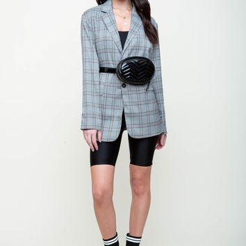 Traveler's Check Blazer Coat