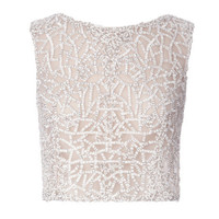 Silk Mousseline And Satin Faced Chiffon Mosaic Top by J. Mendel - Moda Operandi