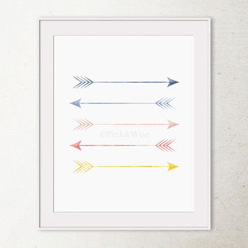 Arrows Art Print, Arrow Decor, Tribal Arrows Print, Printable Art, Dorm Wall Art, Bedroom Wall Decor, Printable Wall Art, Arrows Wall Decor