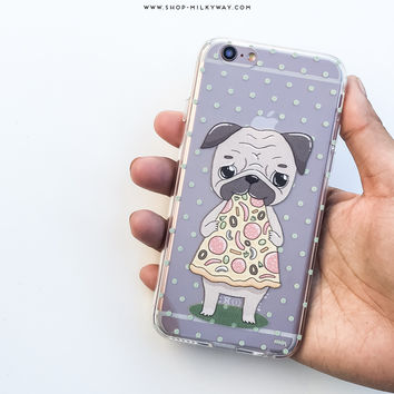 Pizza Pug - Clear TPU Case Cover