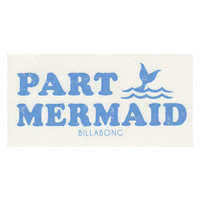 Billabong Party Mermaid Sticker Blue One Size For Women 26856220001