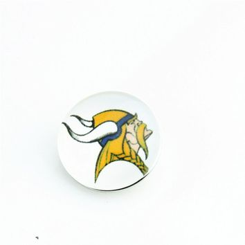 Fashion Team Minnesota Vikings Football Snap Buttons 18mm Snap Button Charms For Sports Fans DIY Snap Bracelets 20pcs/lot