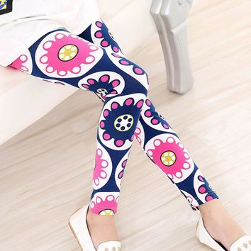 Navy Pink Floral Circles Leggings Mommy And Me