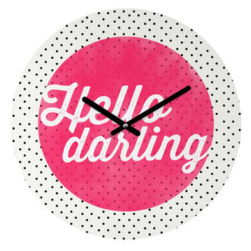 Allyson Johnson Hello Darling Dots Round Clock