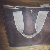Heirloom Quality Shopper Leather Tote