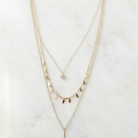 Dainty Layered Necklace Gold