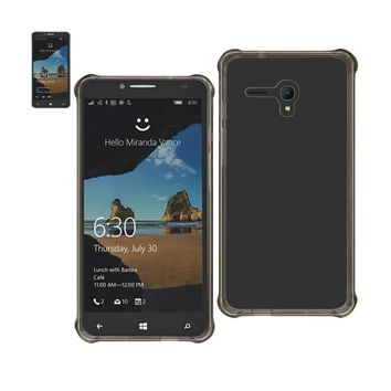 Alcatel One Touch Fierce Xl Clear Bumper Case With Air Cushion Protection (Clear Black)
