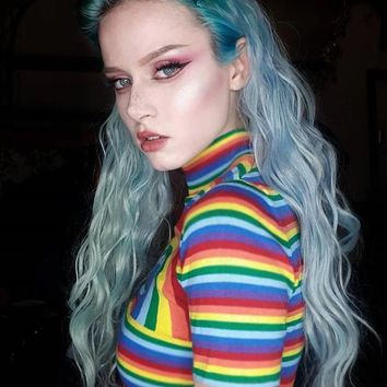 Double Rainbow Cropped Top