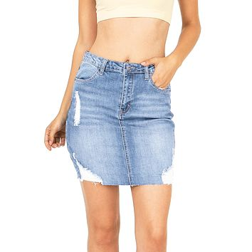 Skyline Denim Skirt