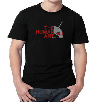 The Human Ant  Mens T-shirt Black and White