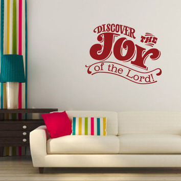 Religious Wall Quote. Discover The Joy - CODE 156