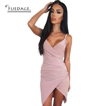 2017 Summer Pink Gray Dress Sleeveless Sexy Office Short Dress Slim Party Dresses Vestido De Festa   Vintage Vestidos