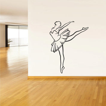 Wall Decal Vinyl Sticker Decor Art Bedroom Design Mural Nursery Kids Baby Ballet Ballerina Dancer (z1625)