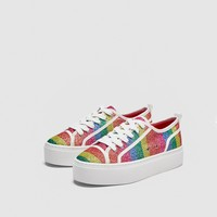 SHINY MULTICOLOURED SNEAKERS DETAILS