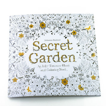 Secret Garden Adult Coloring Book 12 Pages