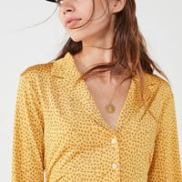 UO Bonnie Silky Button-Down Shirt | Urban Outfitters
