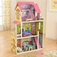 KidKraft 65850 Kids Florence Big Wood Doll House Wooden Dollhouse For Barbie NEW
