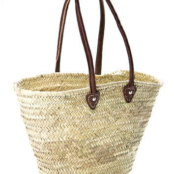 French market basket, long handle