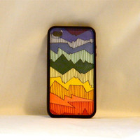 Back To The 80's, Iphone case, Iphone cover, Iphone 4/4s, rainbow, hippie, hipster, retro, 1980's, men, woman, changeable art