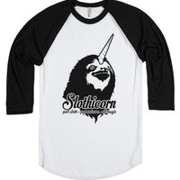 Slothicorn Part Unicorn Part Sloth All Magic-White/Black T-Shirt