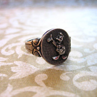 Vintage Sterling Silver DONALD DUCK Disney Ring by charmingellie