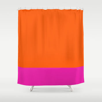 Orange & Pretty in Pink Shower Curtain by All Is One