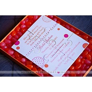 Puzzle Invitation for the Fun and Interactive Wedding or Party
