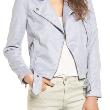 cupcakes and cashmere Faux Suede Moto Jacket | Nordstrom