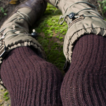 Sock Dreams - Bess Cashmere Slouch Rib Knee Socks