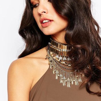 River Island Chunky Statement Choker Necklace