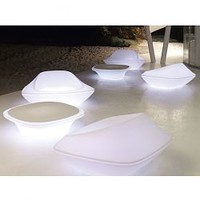 Vondom, UFO, illuminated, lighted, outdoor, lounge, sofa, chairs, chair, patio - HomeInfatuation.com