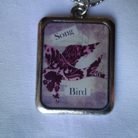 Song Bird Necklace Bird Necklace Ready to Ship by LoveYewDesigns