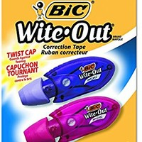 BIC Wite-Out Mini Twist Correction Tape, White, 2-Count