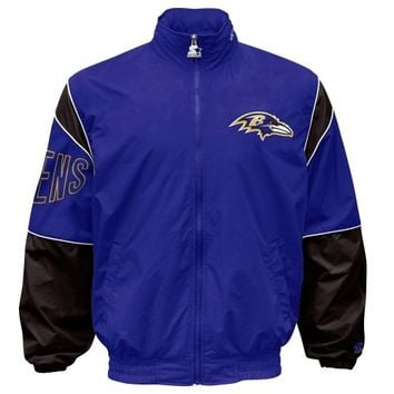 Starter Baltimore Ravens Gust Full Zip Jacket - Purple