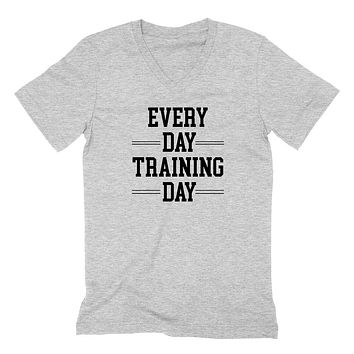Workout, gym, fitness, yoga outfit,every day training day, running wrestling  V Neck T Shirt