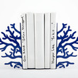 Bookends -Corals Dark Blue edition - unique, stylish and useful decor bookends