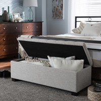 Roanoke Upholstered Grid-Tufted Ottoman