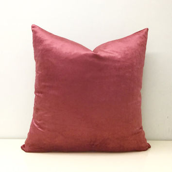 Pink Velvet Pillow Cover,Dried Rose Pink Pillow,Pink Pillows,Velvet Throw Pillows,Pink Velvet Couch Cushion Covers,Pink Velvet Throw Pillows