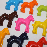 20 horse crayons - in cello bag tied with ribbon - choose your colors