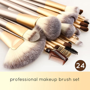 Professional 18/24pcs Top Quality Makeup Brushes Set Cosmetic Tool Beauty