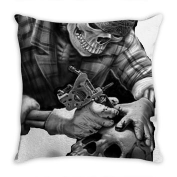 Tatoo Throw Pillow