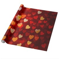 Colorful Love of Hearts Glossy Wrapping Paper