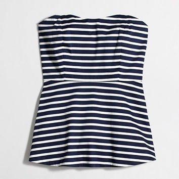 Factory printed strapless peplum top - Shirts & Tops - FactoryWomen's Shop By Category - J.Crew Factory