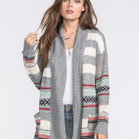 FULL TILT Tribal Stripe Womens Cardigan 239097568 | Cardigans & Wraps
