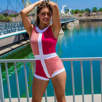 Shades of Pink One Piece Body Suit