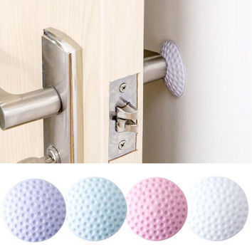 3pcs Silicone Door Handle Knob Crash Pad Wall Protectors Self Adhesive Bumper Guard Stopper Rubber Anti Collision Stop Stick