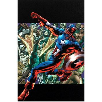 Captain America: Man Out Of Time #5 - Limited Edition Giclee on Stretched Canvas by Bryan Hitch and Marvel Comics