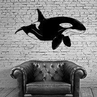 Orca Killer Whale Ocean Marine Animal Decor Wall Mural Vinyl Decal Sticker Unique Gift M425